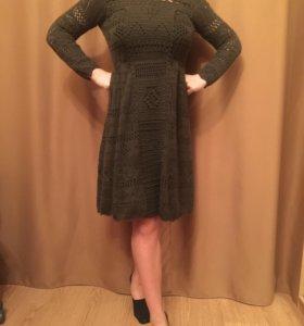 Зеленое вязаное платье Prada, 1 линия (оригинал)
