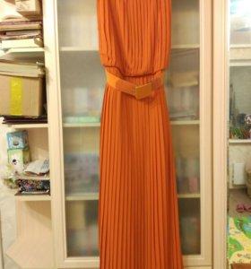 Платье плиссированое шифоновое длинное