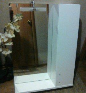 Зеркало-шкафчик-полка для ванной комнаты