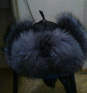 Продам шапку мужскую новую кожа чернобурка