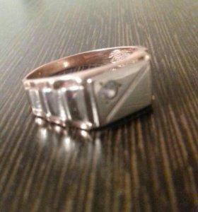 Кольцо золотое с платиной мужское