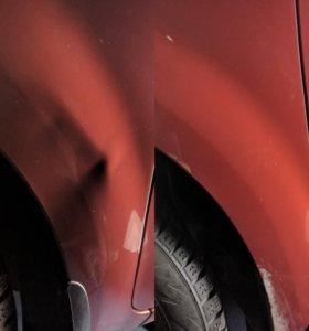 Удаление вмятин на кузове автомобиля