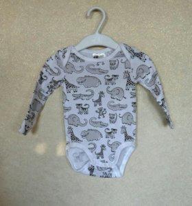Боди от бренда H&M оригинальное для малышей не б/у