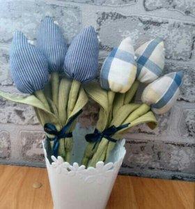 💐 Букет текстильных тюльпанов