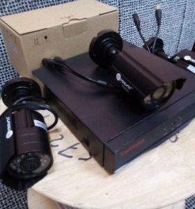 Комплект на три камеры высокого качества 2мп