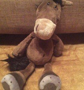 Мягкая игрушка конь (лошадь)