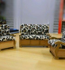 Диван и кресла для кукол 1:12. Мебель для кукол.