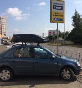 Автобокс Thule Touring M (черный карбон) Швеция.
