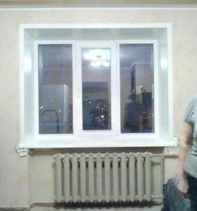 Окно ПВХ, пять камер, три стекла.