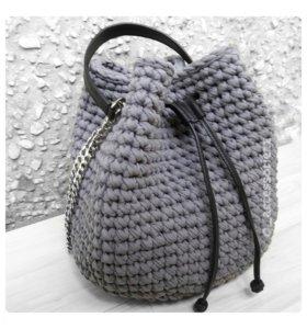Вязаная сумка - торба (мешок)
