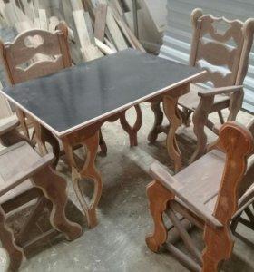 Стулья и стол детский комплект