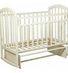 Продам новую детскую кровать с маятником