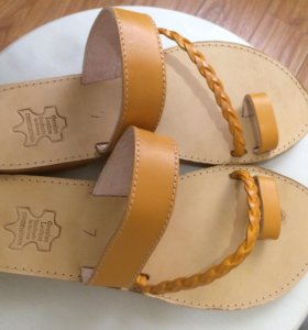Обувь летняя новая, кожаная, Греция