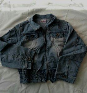 Джинсовая куртка для девочки новая
