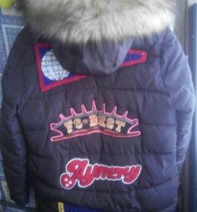 Молодежная зимняя удлин.куртка.