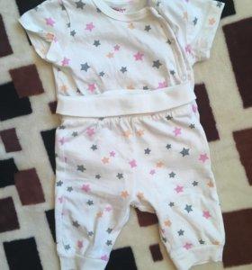 Костюм Детский, 2 боди + штаны.