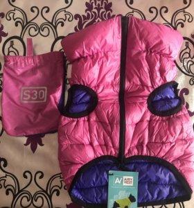 Курточка двухсторонняя размер s30 светящаяся