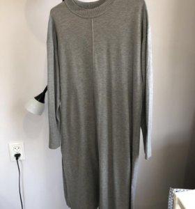 Трикотажное платье-свитер H&M