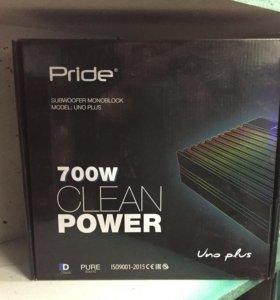 Усилитель моноблок Pride uno plus новый!!