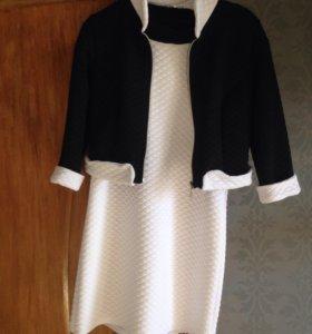 Платье и пиджак 46р