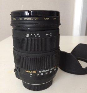 Объектив Sigma AF 18-200mm f/3.5-6.3 Nikon F