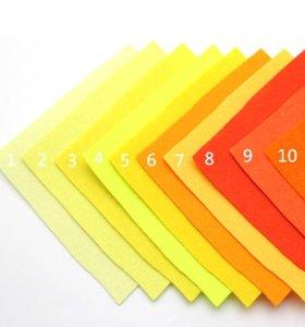Фетр листовой 20х30 для рукоделия, игрушек