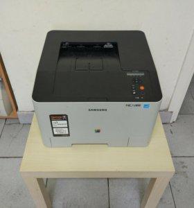 Лазерный цветной принтер с wi-fi samsung clp-415nw