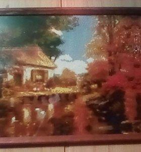 """Картина """" Домик в лесу """""""