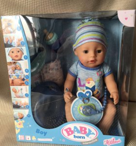 Новая Кукла-мальчик интерактивна Baby Born