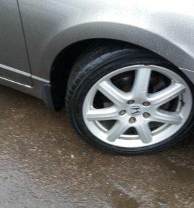 Литые диски r17 хонда с летней резиной