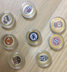 Коллекционные монеты с футболом