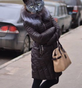 Куртка пальто зимнее с мехом