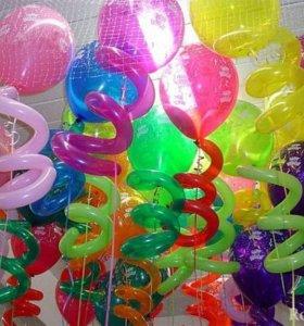 Гелиевые шары и оформление шарами