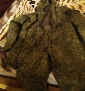 Новый Костюм утепленый бушлат,ватные штаны