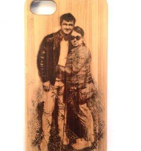 ✅ Чехол деревянный на айфон гравировка