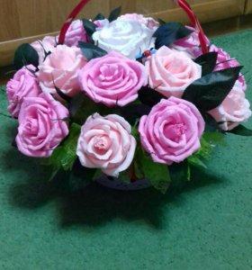Цветы в корзине 🌹🌻