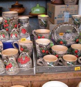 Посуда из глины в ассортименте