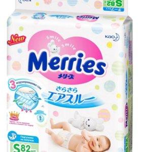 Подгузники Merries S 4-8кг