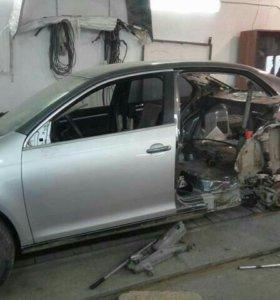 Кузовной ремонт любых марок автомобилей.