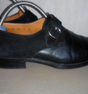 Мужские итальянские туфли Santoni, р.42