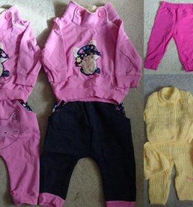 Теплые костюмы для девочек по 2 шт