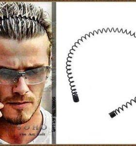 """Металлический обруч для волос """"пружинка"""""""