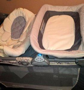 Кровать-манеж GRACO+мобиль