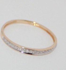 Обручальное кольцо с бриллиантами 585