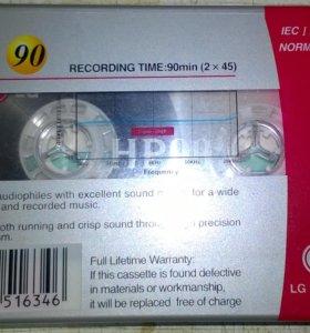 Аудиокассета LG НР - 90.