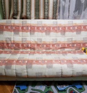 Диван-кровать , кресло и пуфик