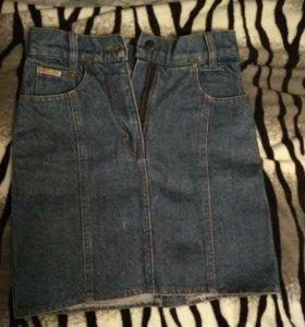 Юбка джинсовая карандаш.