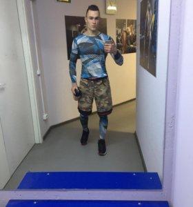 Мужской компрессионный костюм для спорта