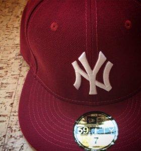 Бейсболка с прямым козырьком NY