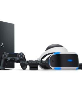 PS 4 PRO и очки виртуальной реальности